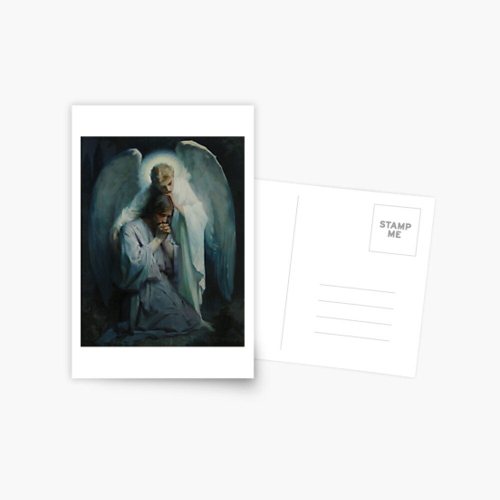 Agony In The Garden By Frans Schwartz Greeting Card By