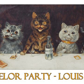 Cats' Bachelor Party by Louis Wain by Chunga