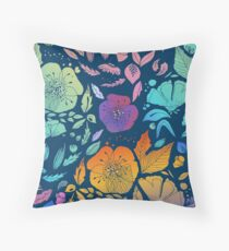 California Blossoms Throw Pillow