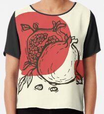 Pomegranates linocut Chiffon Top