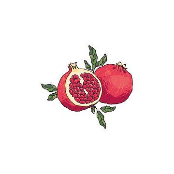Pair of pomegranates by Zhivova