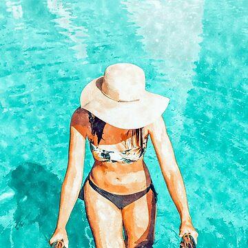 Pool Fashion #painting #fashion by 83oranges