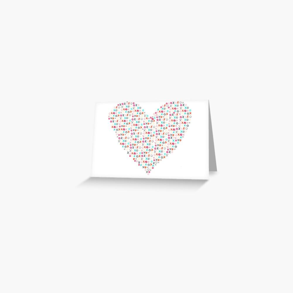 xoxo heart Greeting Card