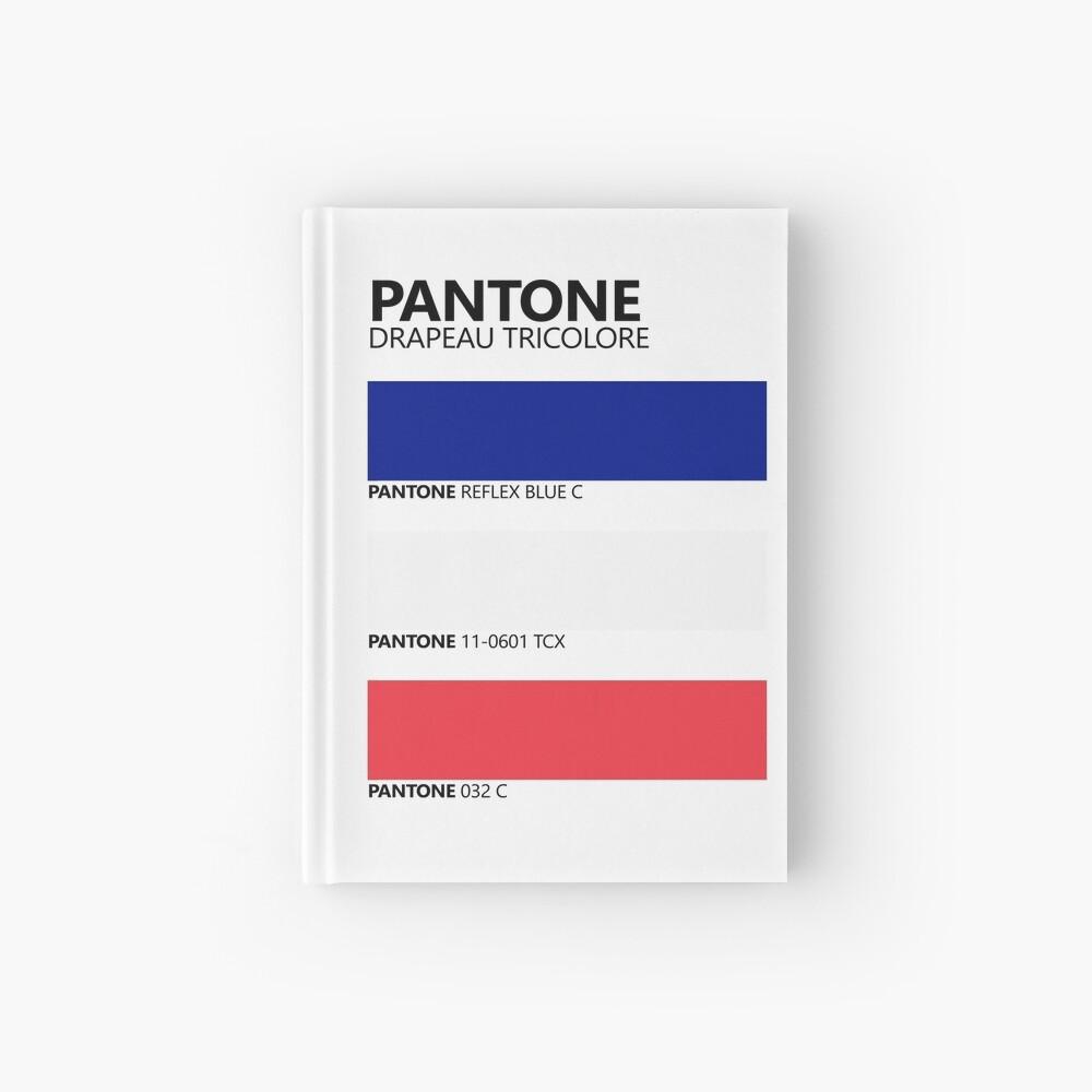 Pantone Drapeau Tricolore Paleta de colores de bandera francesa Cuaderno de tapa dura