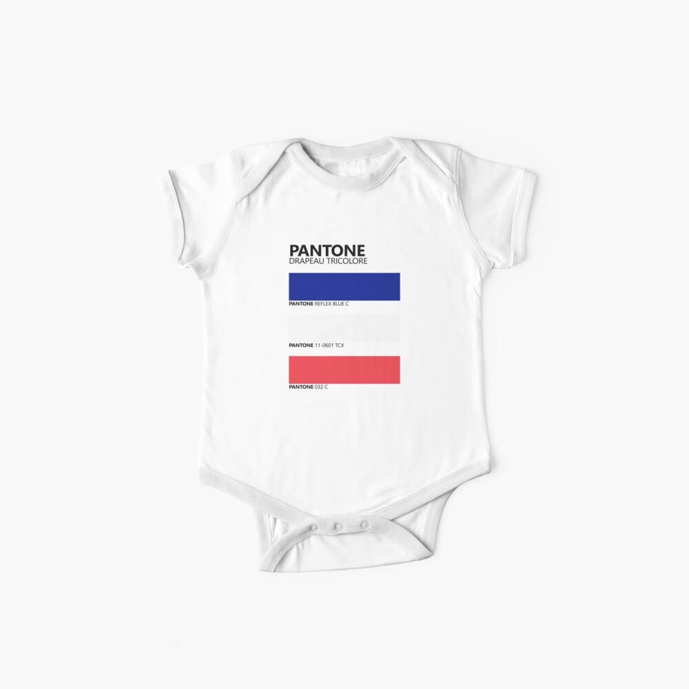Pantone Drapeau Tricolore Paleta de colores de bandera francesa Bodies para bebé