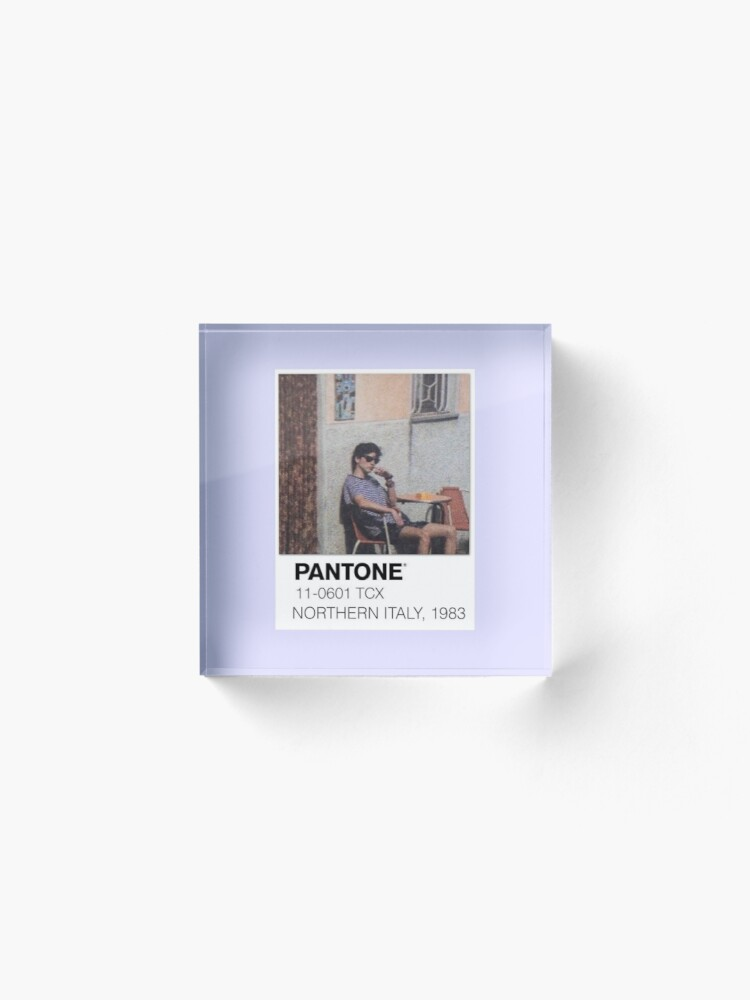 Alternate view of Pantone Call Me By Your Name Polaroid Acrylic Block