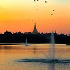 Temple Sunset by Marylou Badeaux
