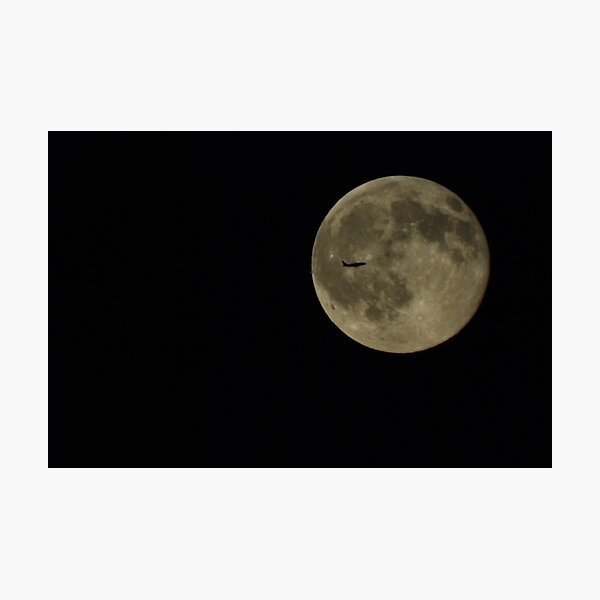 Moon Flyby Photographic Print