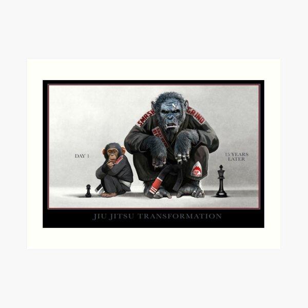 Chimp Transformation Art Print