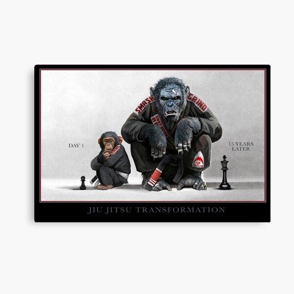 Chimp Transformation Canvas Print