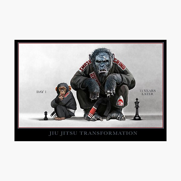 Chimp Transformation Photographic Print