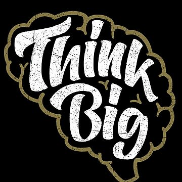Think Big Brain Lettering Design von sebastianst