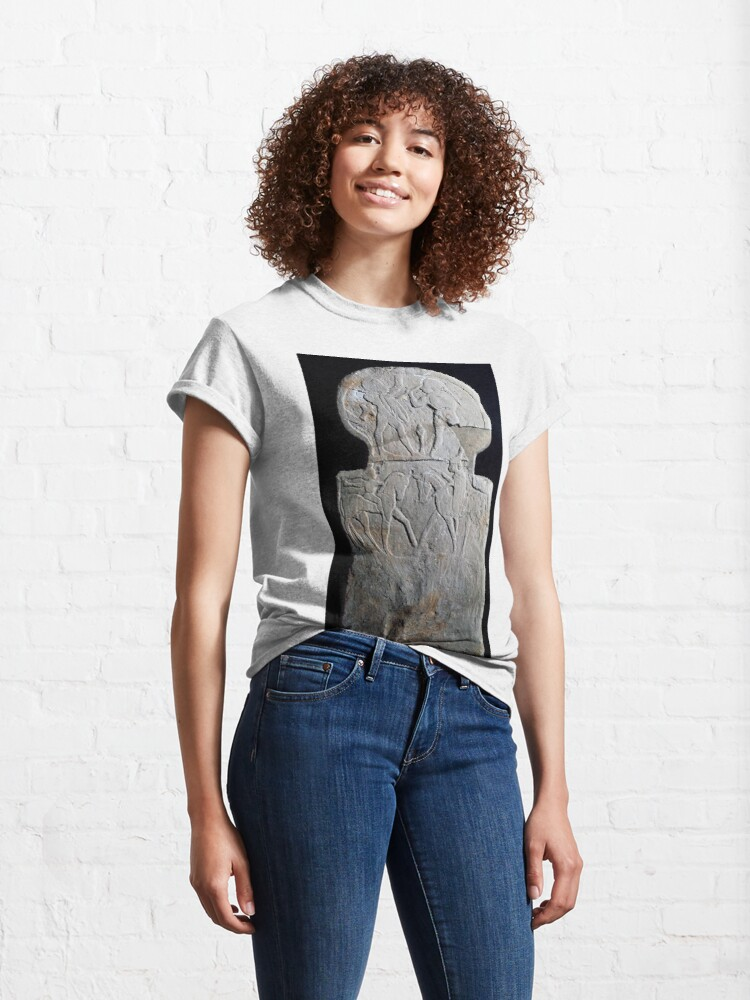 Alternate view of #sculpture #ancient #archaeology #art religion statue old monument Classic T-Shirt