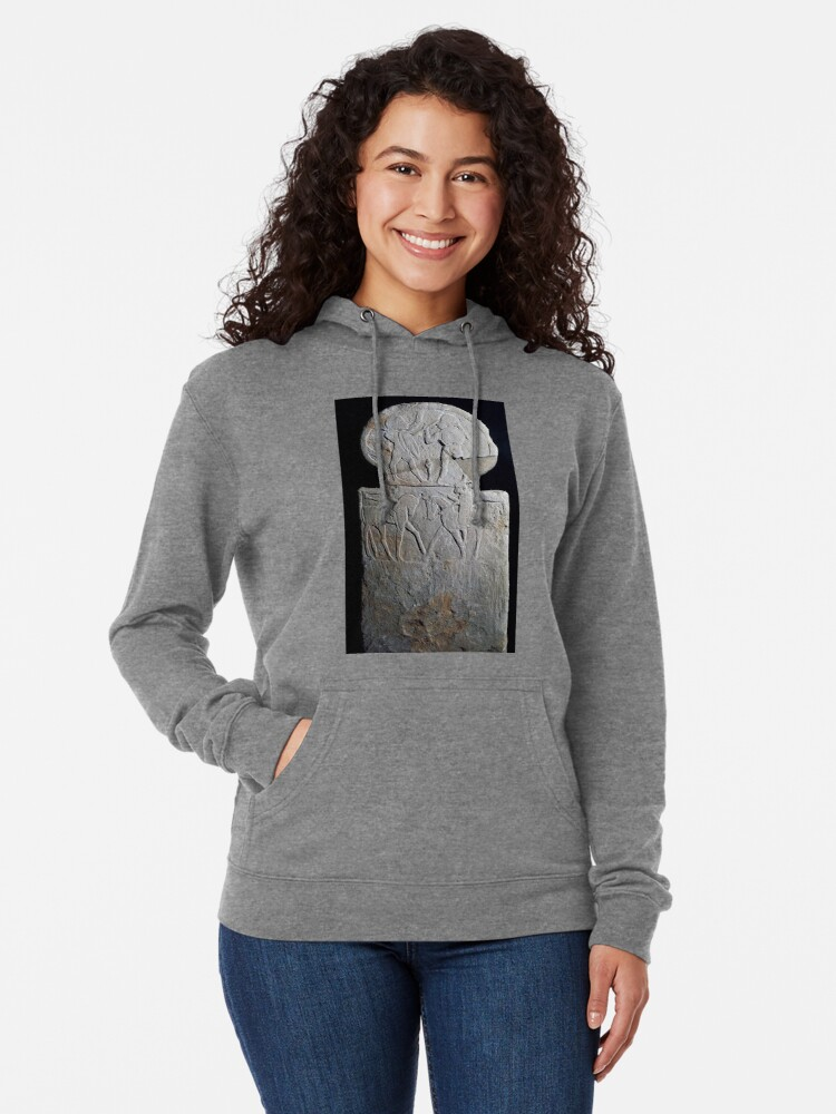 Alternate view of #sculpture #ancient #archaeology #art religion statue old monument Lightweight Hoodie