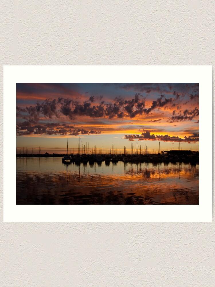 Alternate view of Sunset Harbor Art Print