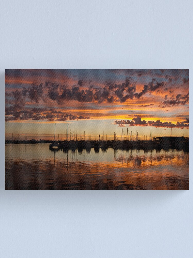 Alternate view of Sunset Harbor Canvas Print