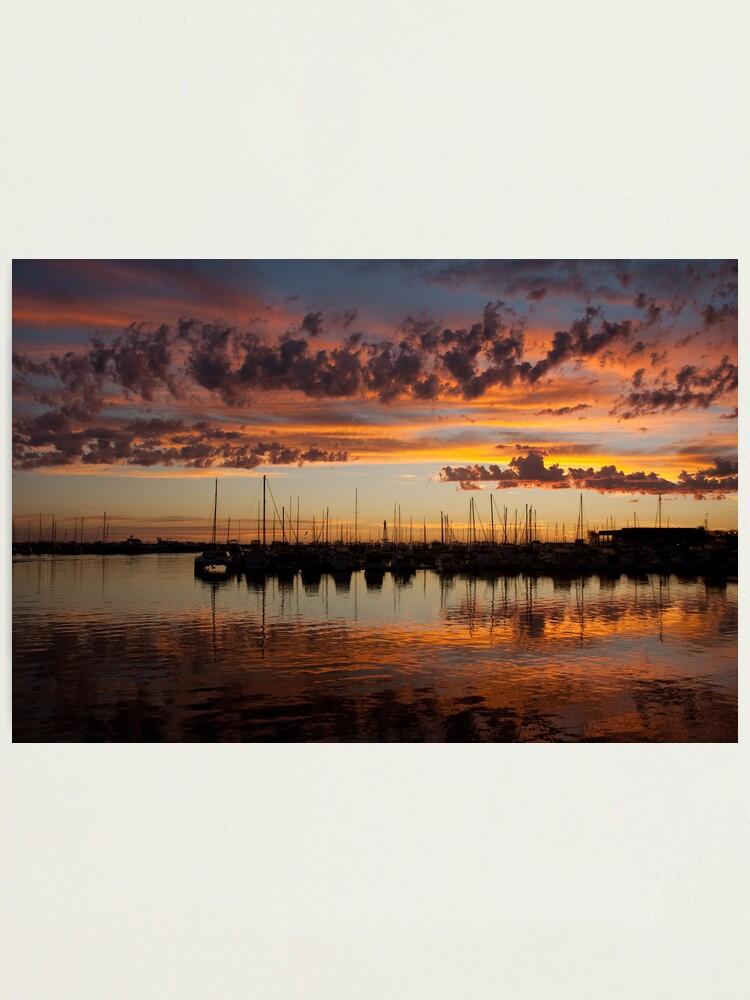 Alternate view of Sunset Harbor Photographic Print