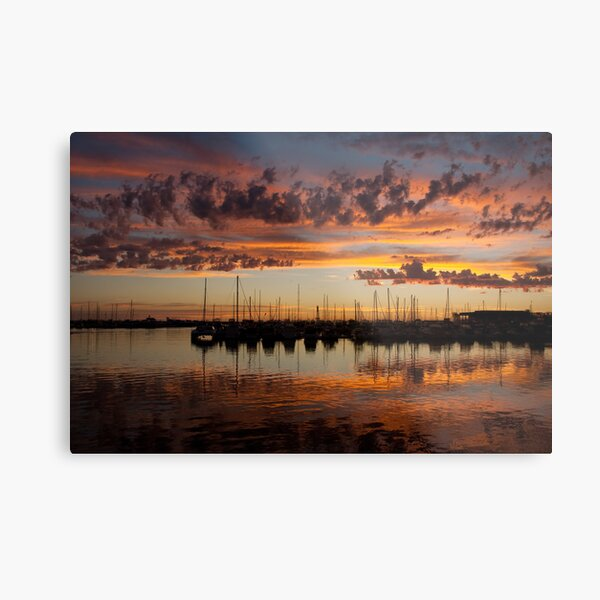 Sunset Harbor Metal Print