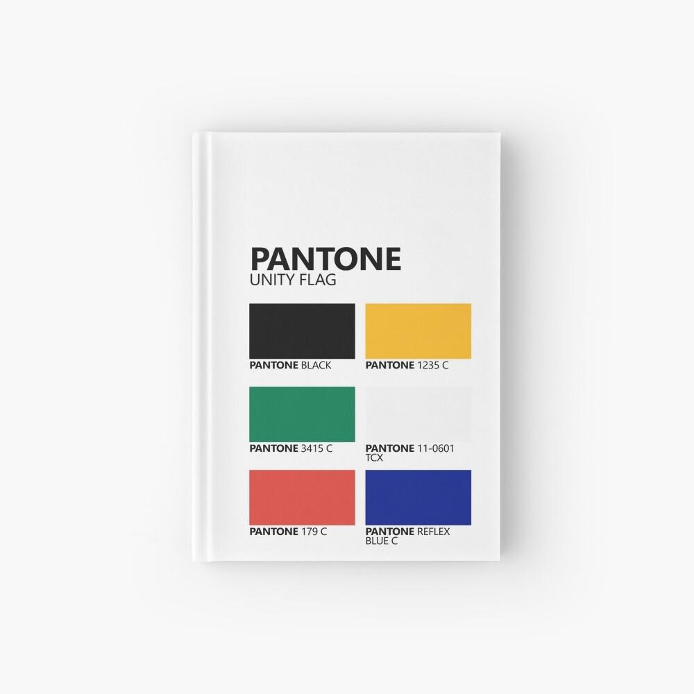 Paleta de colores de bandera de unidad sudafricana de Pantone Cuaderno de tapa dura