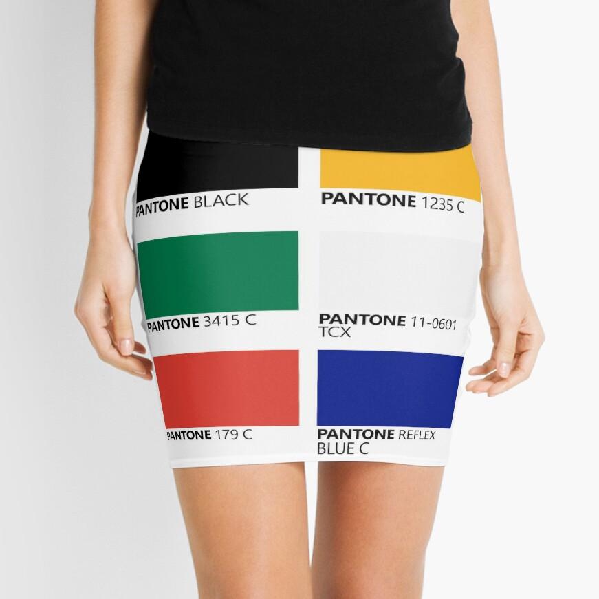 Paleta de colores de bandera de unidad sudafricana de Pantone Minifalda