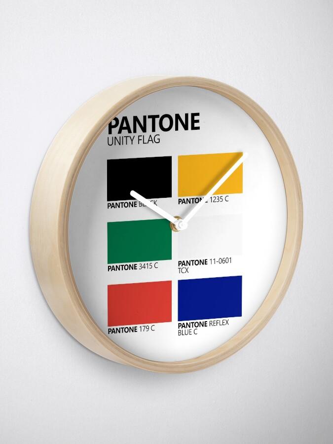 Vista alternativa de Reloj Paleta de colores de bandera de unidad sudafricana de Pantone
