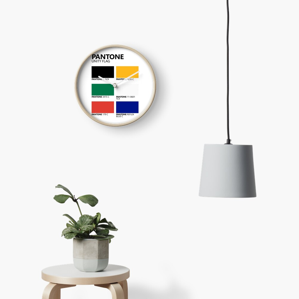 Paleta de colores de bandera de unidad sudafricana de Pantone Reloj