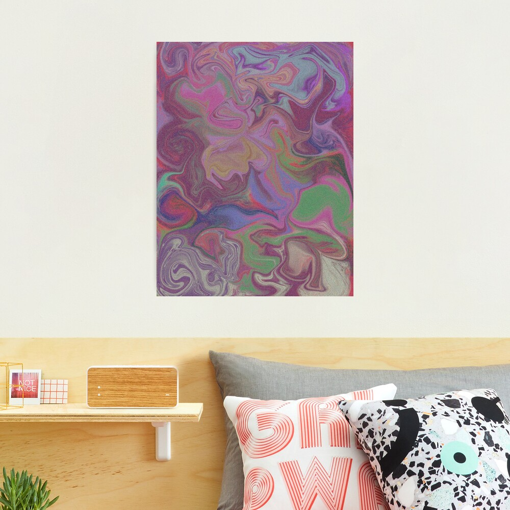 Colorful Abstract Liquid Effect Photographic Canvas Print