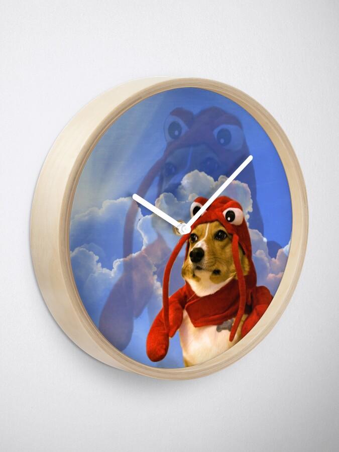 Alternate view of Lobster Corgi, Doggo #1 Clock