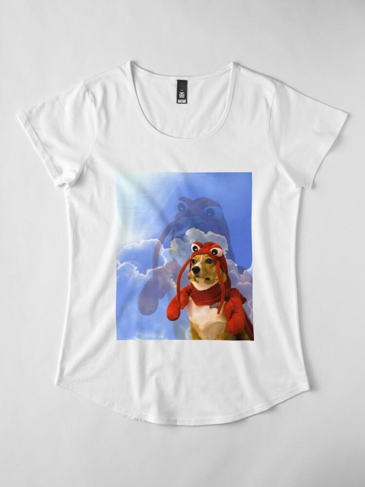 Alternate view of Lobster Corgi, Doggo #1 Premium Scoop T-Shirt