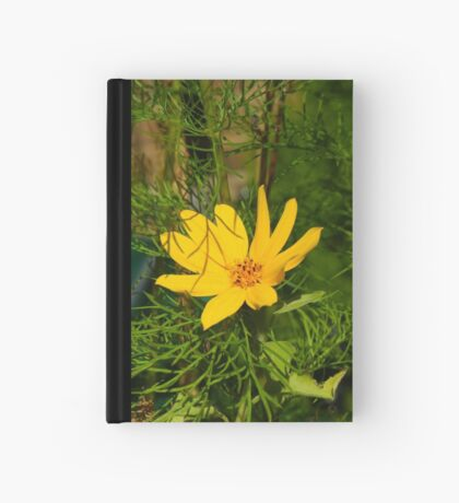 Yellow Wild Flower aka Cosmos Hardcover Journal