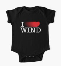 I LOVE WIND Short Sleeve Baby One-Piece