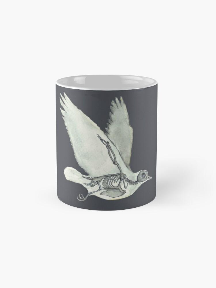 Alternate view of Bird Skeleton: Animal Dove Anatomy Mug