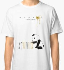 Panda and candles - happy birthday Classic T-Shirt
