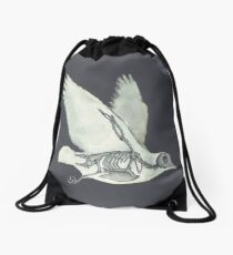 Bird Skeleton: Animal Dove Anatomy Drawstring Bag