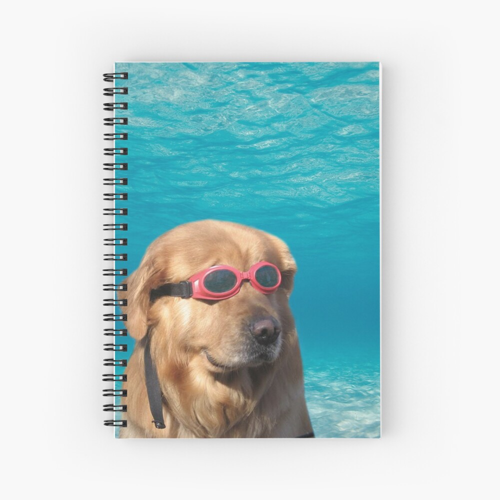 Swimmer Dog Spiral Notebook