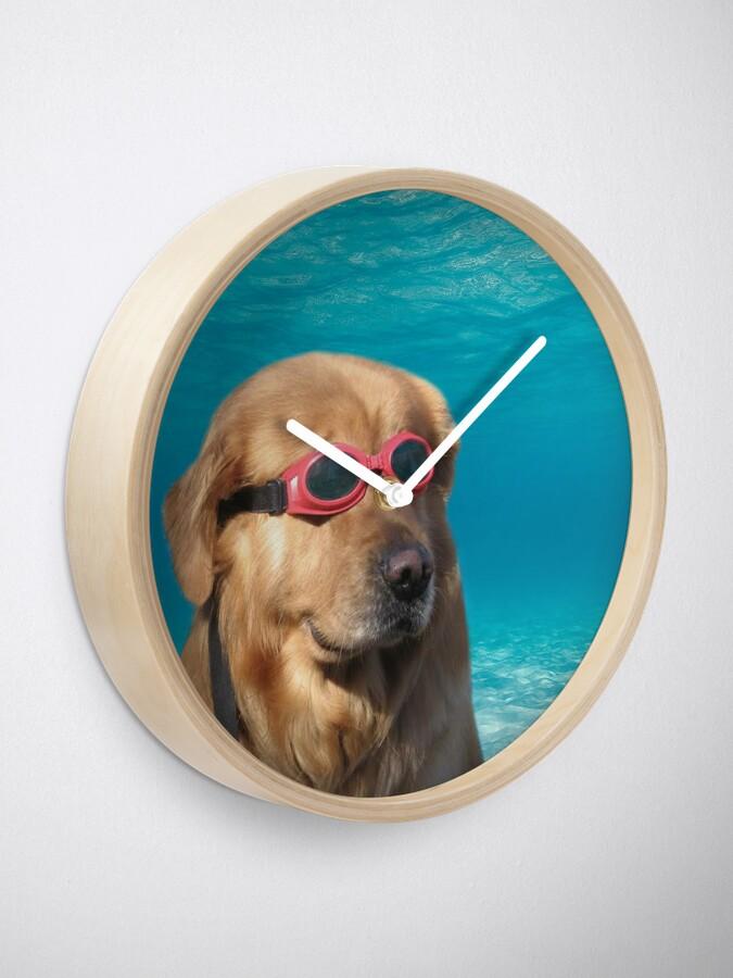 Alternate view of Swimmer Dog Clock