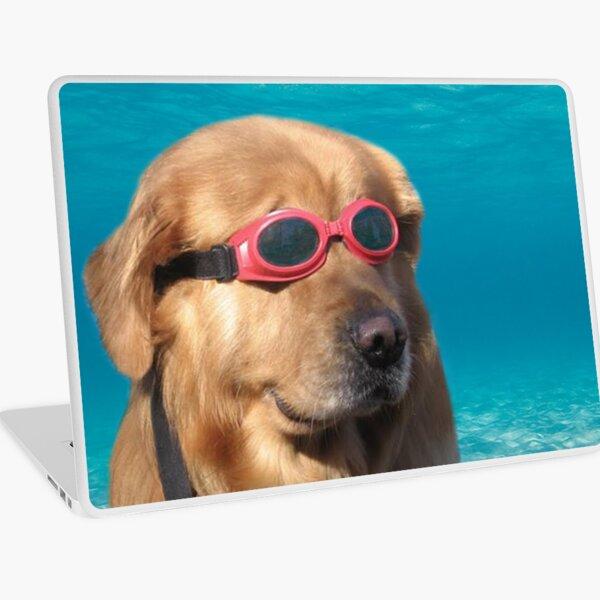 Swimmer Dog Laptop Skin