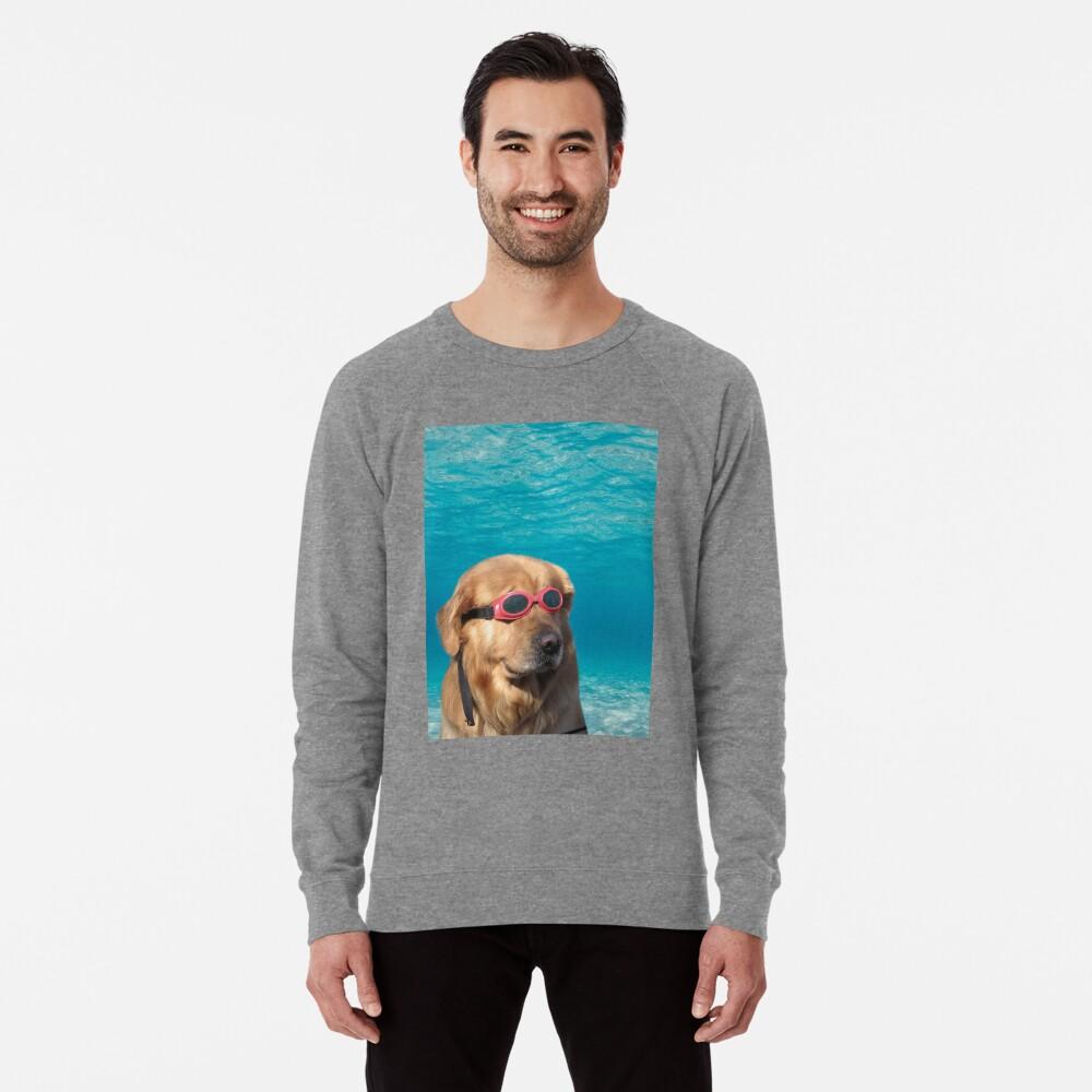 Swimmer Dog Lightweight Sweatshirt