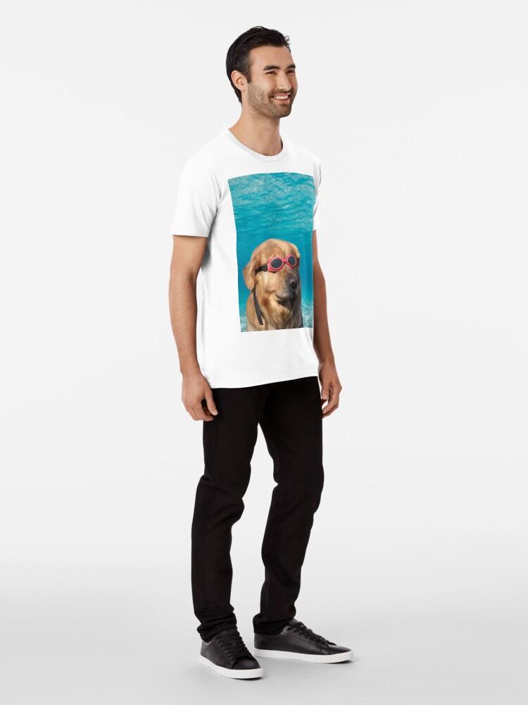 Alternate view of Swimmer Dog Premium T-Shirt