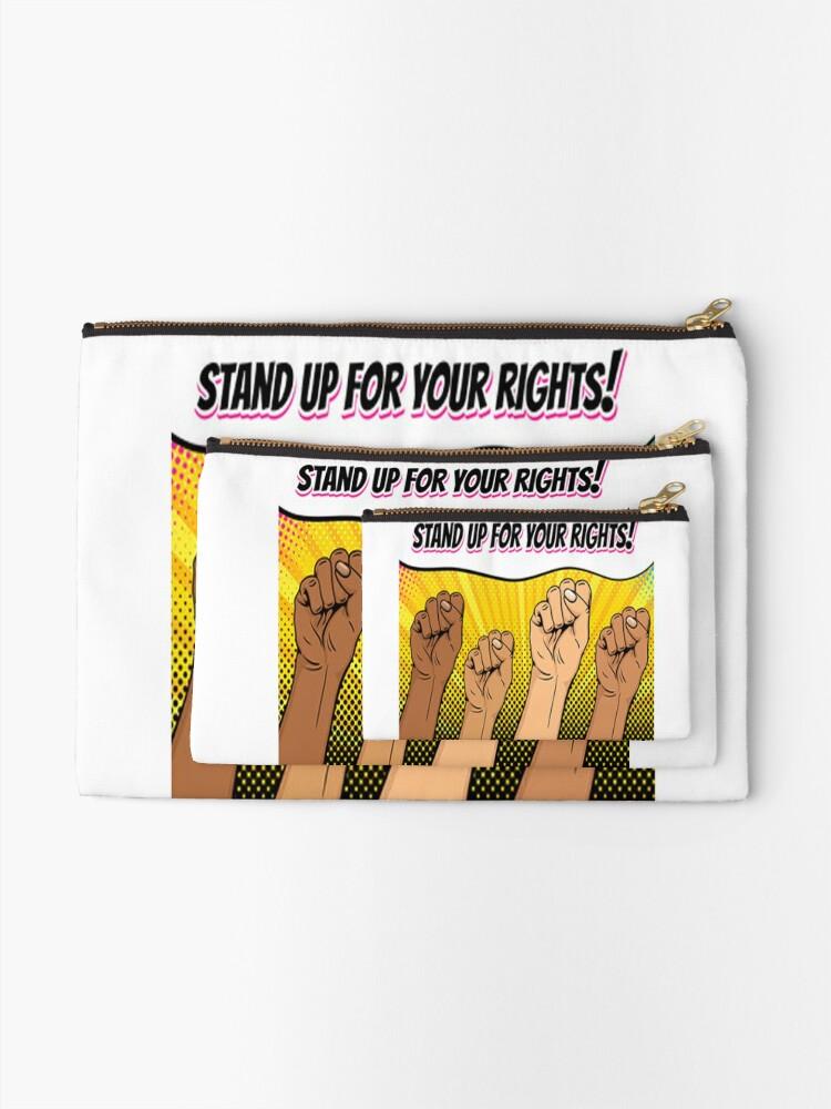 Alternative Ansicht von Kämpft für eure Rechte! Täschchen