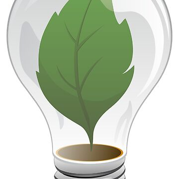 Clean Energy Green Leaf Illustration by hobrath