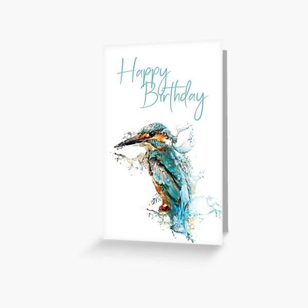 Happy Birthday - kingfisher Greeting Card