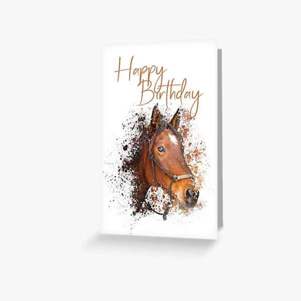 Happy Birthday - horse Greeting Card