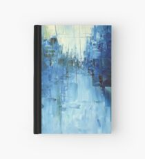 Cold #3 Abstract cityscape Hardcover Journal