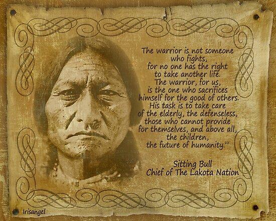 Sitting Bull Warrior Quote Rustic Print Photographic Print By Irisangel