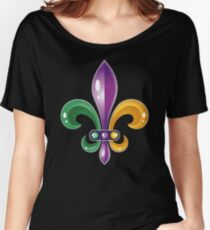 Fleur De Lis Mardi Gras Karneval Lilie  Baggyfit T-Shirt