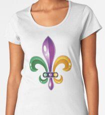 Fleur De Lis Mardi Gras Karneval Lilie  Frauen Premium T-Shirts