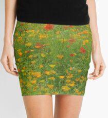 English Summer monet Mini Skirt