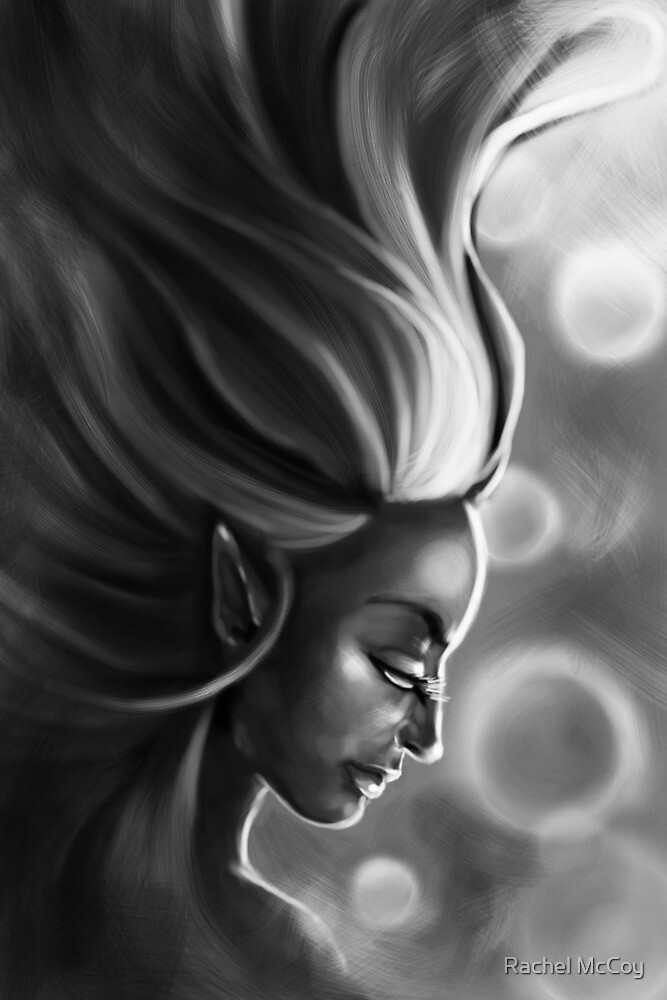 The Elf Woman (Black & White) by Rachel McCoy