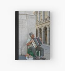 Accordian Man - Rome, Italy Hardcover Journal